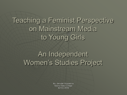 Teaching a Feminist Perspective on Mainstream