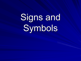 Signs and Symbols - Leighton Park Philosophy -