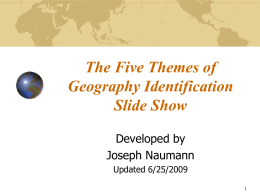 The Five Themes of Geography Identification Slide