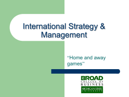 Global Strategy - International Business Center