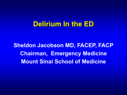 Delerium - University of Illinois at Chicago