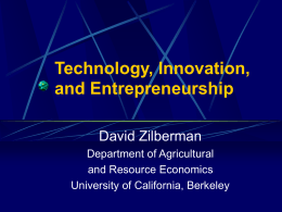 Technology, Innovation, And Entrepreneurship