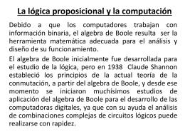 La lógica proposicional y la computación