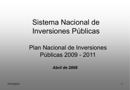 Formación de la Demanda de Inversión Pública