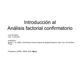 Análisis factorial confirmatorio