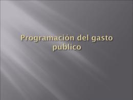 Programación del gasto publico