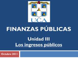 Diapositiva 1 - FINANZAS PÚBLICAS