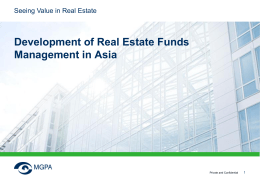 Development of Real Estate Funds Management in