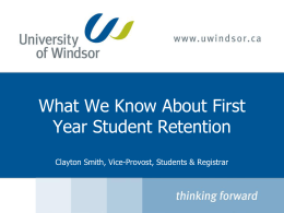 Resume Writing - University of Windsor