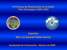 El Proceso de Planificación en la USAC Plan