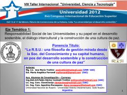 La especificidad de la Gestión Universitaria en