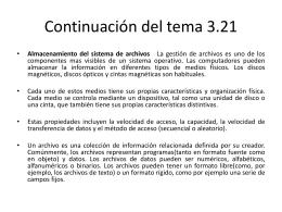Continuación del tema 3.21