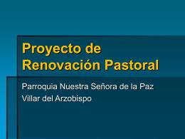Proyecto de Renovación Pastoral
