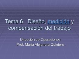 Tema 6. Diseño, medición y compensación del