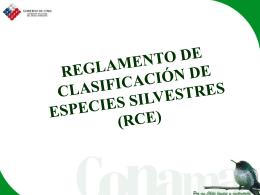 REGLAMENTO DE CLASIFICACIÓN DE ESPECIES DE FAUNA Y