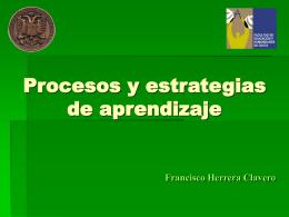 PROCESOS Y ESTRATEGIAS DE APRENDIZAJ