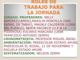 AGENDA DE TRABAJO - Jefatura Municipal de