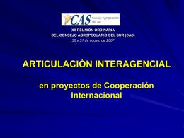 ARTICULACIÓN IICA/FAO