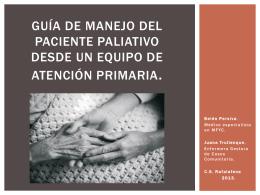 Guía de manejo del paciente paliativo desde un