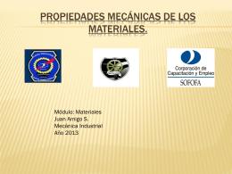 Propiedades Mecánicas de los materiales.