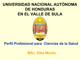 UNIVERSIDAD NACIONAL AUTÓNOMA DE HONDURAS EN EL