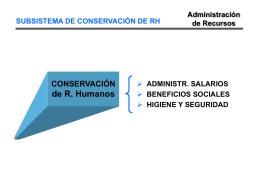 SUBSISTEMA DE CONSERVACIÓN DE RH