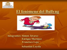 El fenómeno del Bullyng