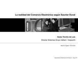 La realidad del Comercio Electrónico según Saunier