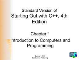 Powerpoint Slides for the Standard Version of