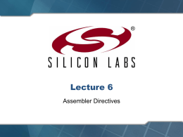 Lecture 4 - UW