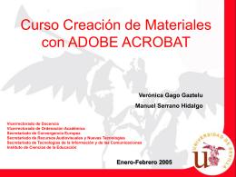 Curso Creación de Materiales con ADOBE ACROBAT