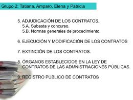 5. ADJUDICACIÓN DE LOS CONTRATOS. 5.A. Subasta y
