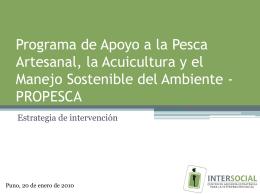Programa de Apoyo a la Pesca Artesanal, la