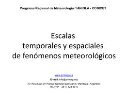 Escalas temporales y espaciales de fenómenos