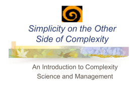 Simplicity on the Other Side of Complexity -