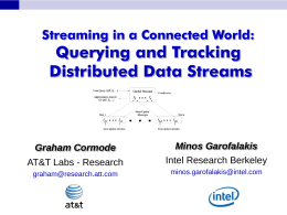 Streaming in a Connected World: Querying and
