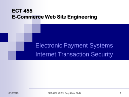 ECT 455/HCI 513 Design & Strategies for Internet
