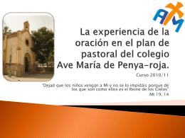 Plan de pastoral del colegio Ave María de
