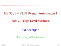 PowerPoint Presentation: EE5301- Floorplanning -