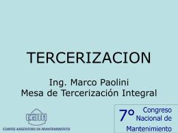 TERCERIZACION - Comité Argentino de Mantenimiento