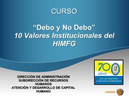 PowerPoint template - Hospital Infantil de México