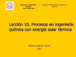 Aplicaciones energía solar térmica