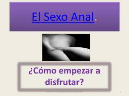 El Sexo Anal.