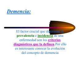 Demencia: introducción