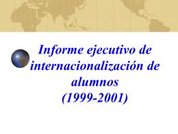 Internacionalización Alumnos