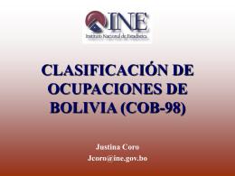 Clasificación de Ocupaciones de Bolivia (COB-98)