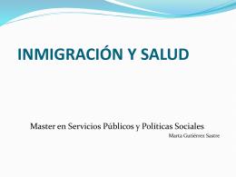Situación de la inmigración en España (datos