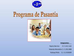 PROGRAMAS DE PASANTIAS