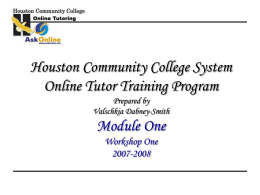 Online Tutoring Program - OnlineTeaching&Learning