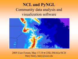PyNGL: Visualization for the Geosciences